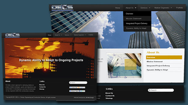 Search Engine Friendly Corporate Website Design