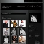 website after redesign - photographic display section